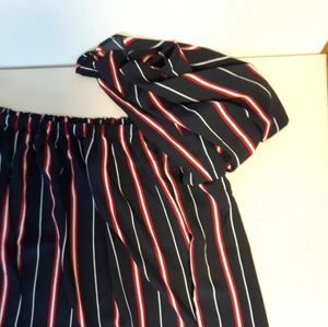 French Connection Tops - Off Shoulder top striped size S French connection